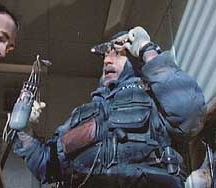 De Niro as the 'renegade information plumber' in Terry Gilliam's 'Brazil'